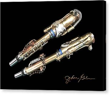 The Goldigger, Original Pens, Prints, Etc.  Canvas Print by Wonky Design Studio