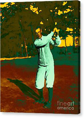 The Golfer - 20130208 Canvas Print by Wingsdomain Art and Photography