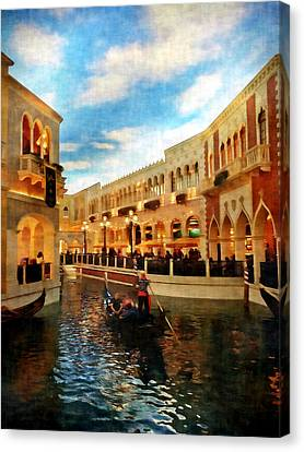 The Gondolier Canvas Print by Dan Stone