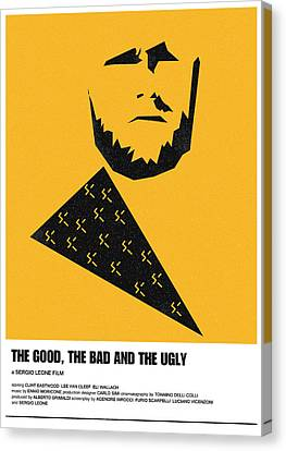 The Good Bad Ugly Clint Eastwood Poster Canvas Print