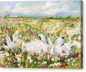 the Good Life Canvas Print by Mary Sparrow
