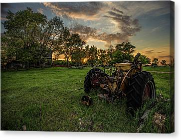 Abandoned House Canvas Print - The Good Ol' Days  by Aaron J Groen