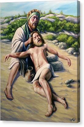 The Good Samaritan 1 Canvas Print by Laura Ury
