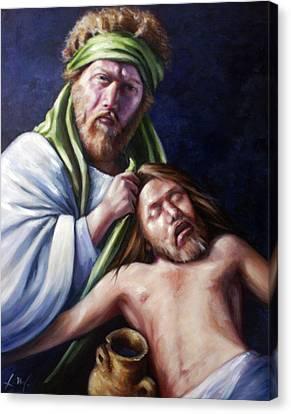 The Good Samaritan Canvas Print by Laura Ury