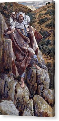 Lamb Canvas Print - The Good Shepherd by Tissot