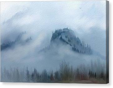 The Gorge In The Fog Canvas Print