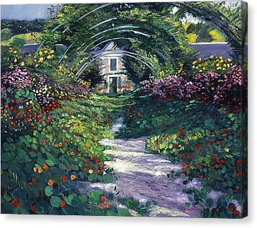 The Grand Allee Giverny Canvas Print by David Lloyd Glover