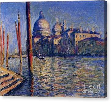 The Grand Canal And Santa Maria Canvas Print by Monet