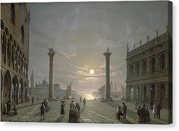 The Grand Canal From Piazza San Marco Canvas Print by Henry Pether