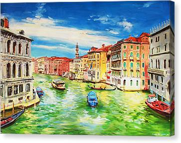 Italian Landscapes Canvas Print - The Grand Canal Venice  by Conor McGuire