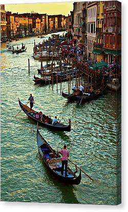 Canvas Print featuring the photograph The Grand Canal Venice by Harry Spitz