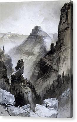Thomas Moran Canvas Print - The Grand Canyon Drawing            by Thomas Moran