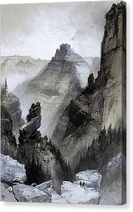 Moran Canvas Print - The Grand Canyon - Head Of The Old Hance Trail by Thomas Moran