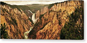 Yellowstone Canvas Print - The Grand Canyon Of The Yellowstone by Greg Norrell