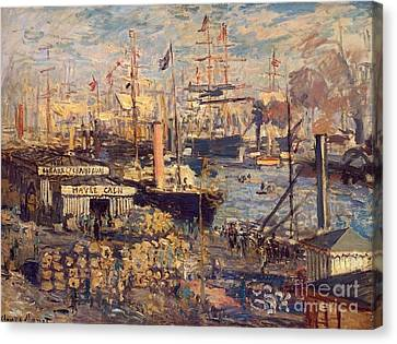 The Grand Dock At Le Havre Canvas Print by Monet