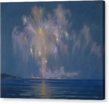 Explosion Canvas Print - The Grand Finale by Lendall Pitts