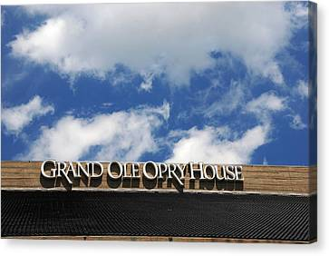 The Grand Ole Opry Nashville Tn Canvas Print by Susanne Van Hulst