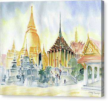 The Grand Place Canvas Print - The Grand Palace Bangkok by Melly Terpening