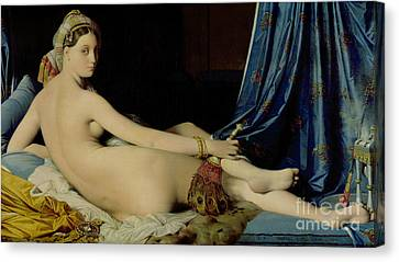 The Grande Odalisque Canvas Print by Ingres