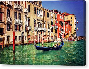 Grand Canal Canvas Print - The Grandeur Of The Grand Canal Venice  by Carol Japp