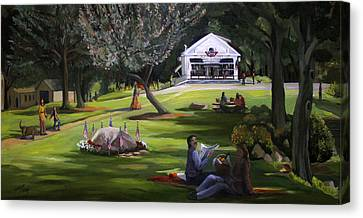 The Granville Green Canvas Print by Nancy Griswold