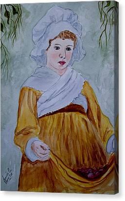 Grape Pickers Canvas Print - The Grape Picker by Jean Billsdon
