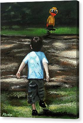 The Grass Is Always Greener On The Other Side Canvas Print by Andrea Realpe