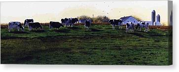 The Grass Is Greener Canvas Print by Denny Bond