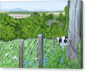 'the Grass Sings In The Meadow' Canvas Print