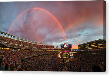The Grateful Dead Rainbow Of Santa Clara, California Canvas Print by Beau Rogers