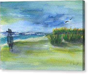 The Gray Man Visits Pawleys Island Sc Canvas Print