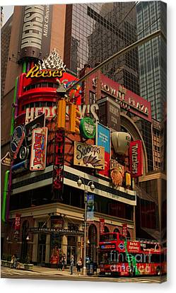Canvas Print featuring the photograph The Great American Chocolate Company by David Bishop
