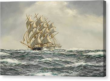 Seafarer Canvas Print - The Great American Clipper-donald Mackay by Henry Scott