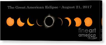 The Great American Eclipse Of 2017 Canvas Print