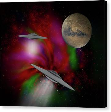 The Great Beyond Canvas Print by KaFra Art