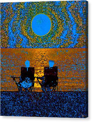 The Great Blue Moon Canvas Print