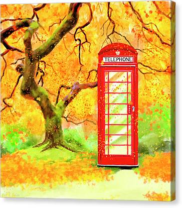 Reds Of Autumn Canvas Print - The Great British Autumn by Mark Tisdale
