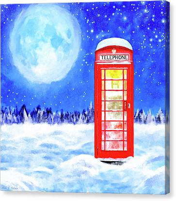 The Great British Winter Canvas Print by Mark Tisdale