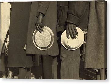 The Great Depression. African Americans Canvas Print by Everett