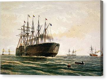 The Great Eastern Under Way Canvas Print