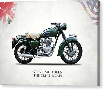 Motors Canvas Print - The Great Escape Motorcycle by Mark Rogan