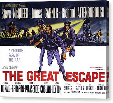 The Great Escape Movie Vintage Lobby Poster  1963 Canvas Print by Daniel Hagerman