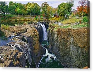 The Great Falls Of The Passaic River 2 Canvas Print by Allen Beatty