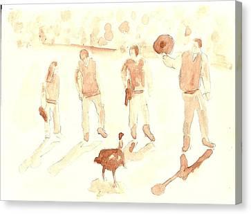 The Great Gobbler Gallop Canvas Print by Matt Gaudian