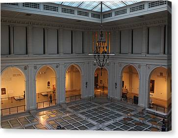 The Great Hall - Brooklyn Museum Of Art Canvas Print by Dora Sofia Caputo Photographic Art and Design