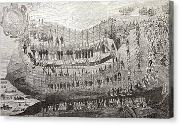 The Great Martydom Of Nagasaki, 1622 Canvas Print by Vintage Design Pics