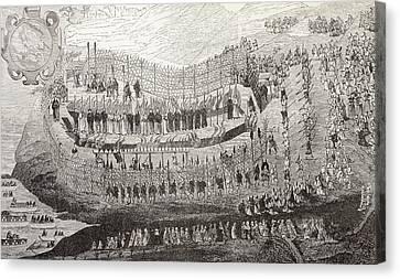The Great Martydom Of Nagasaki, 1622 Canvas Print