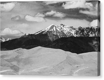 The Great Sand Dunes And Sangre De Cristo Mountains - Bw Canvas Print by James BO  Insogna