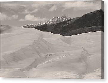 Landscapes Canvas Print - The Great Sand Dunes  Bw Sepia by James BO  Insogna