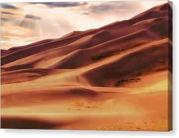 The Great Sand Dunes Of Colorado - Landscape - Sunset Canvas Print by Jason Politte